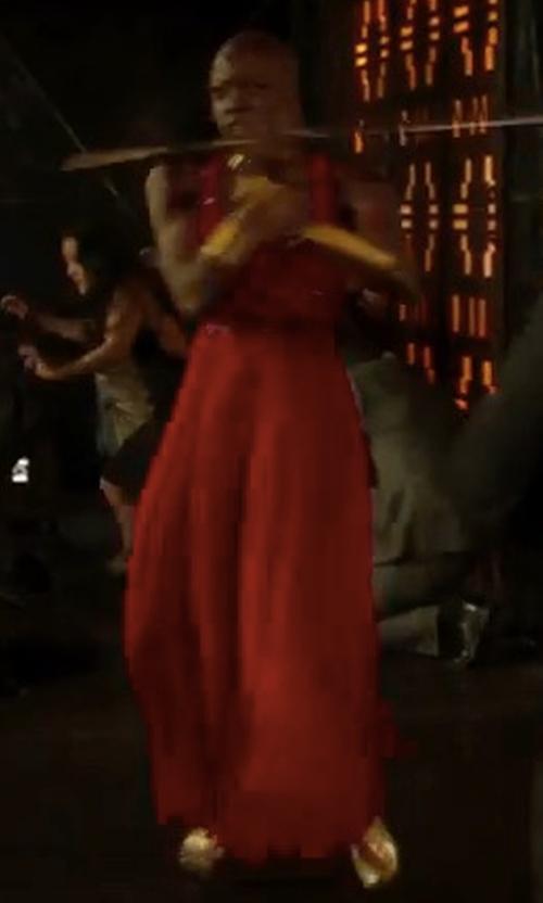 Danai Gurira with NBD X Revolve Yani Gown in Black Panther