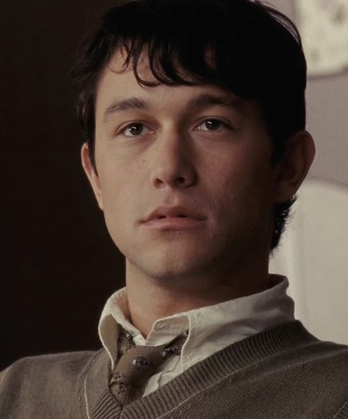 Joseph Gordon-Levitt with Lanvin Patterned Tie in (500) Days of Summer