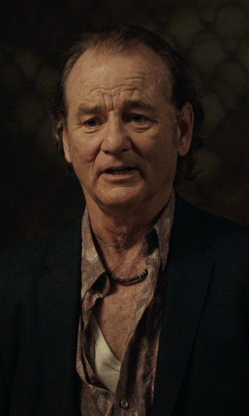 Bill Murray with JC Penney Braided & Stainless Steel Necklace in Rock The Kasbah