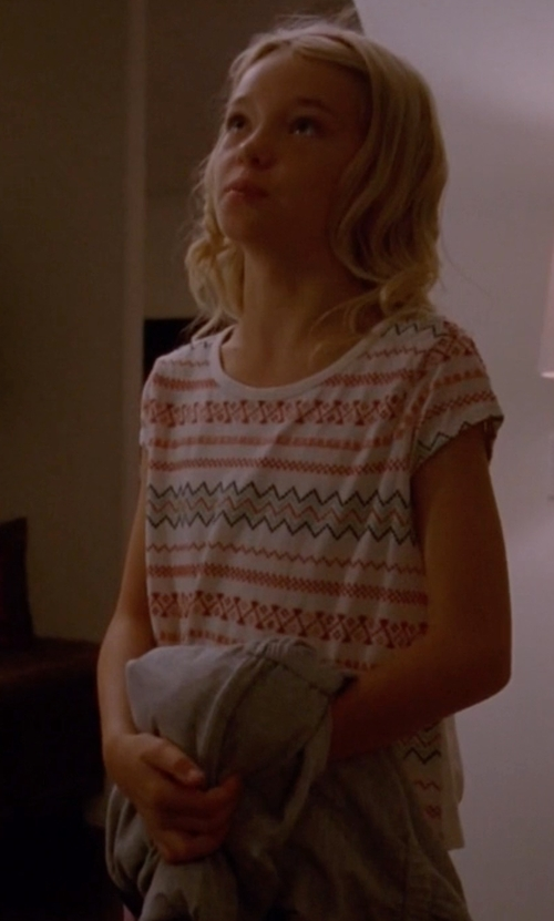 Shree Crooks with Tucker + Tate Embroidered Tee in American Horror Story