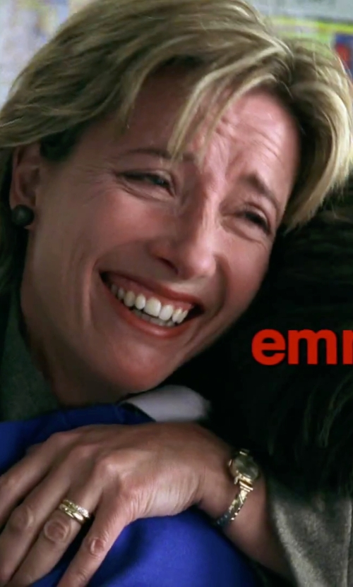 Emma Thompson with Humble Chic Oversized Pearl Stud Earrings in Love Actually