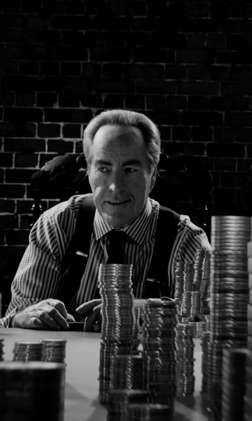 Powers Boothe with Charvet Striped French-Cuff Poplin Dress Shirt in Frank Miller's Sin City: A Dame To Kill For