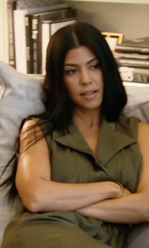 Kourtney Kardashian with Love|Labels Draped Vest in Keeping Up With The Kardashians