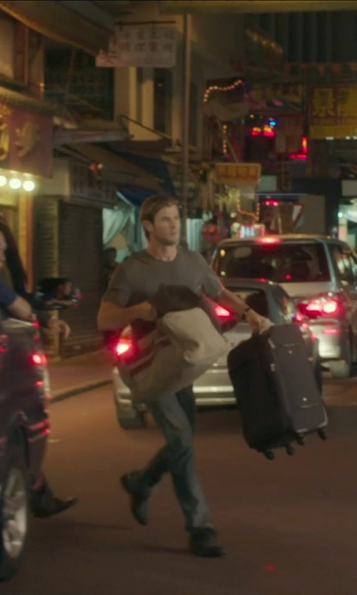Chris Hemsworth with Timberland 'Madison' Duffel Bag in Blackhat