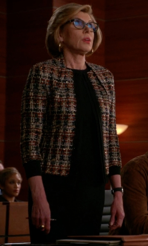 Christine Baranski with Kate Spade New York Sicily Sheath Dress in The Good Wife