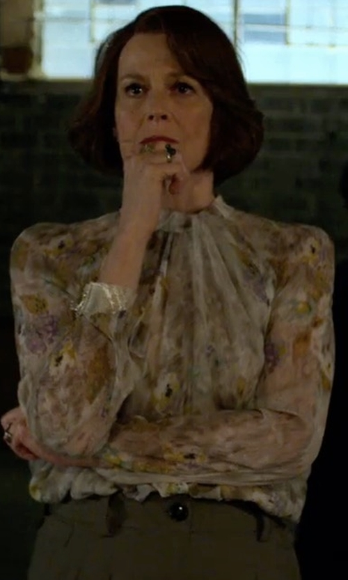 Sigourney Weaver with Tucker The Classic Blouse in Marvel's The Defenders