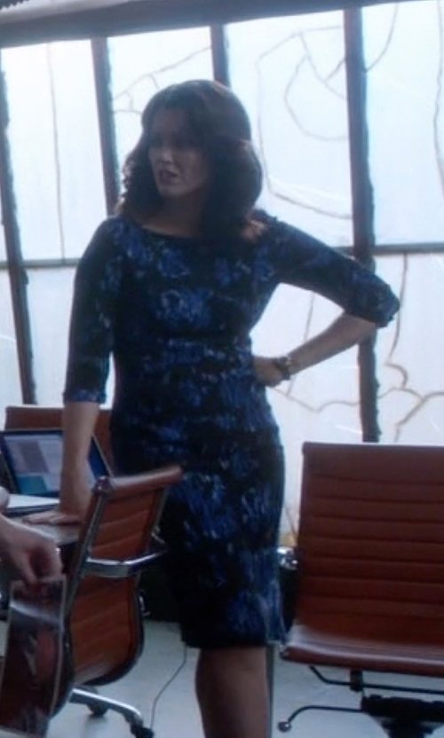 Bellamy Young with Black Halo Marissa Sheath Dress in Scandal