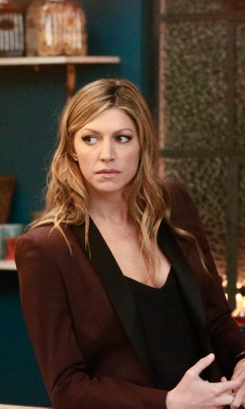 Jes Macallan with Rebecca Minkoff Becky Silk Blazer in Mistresses