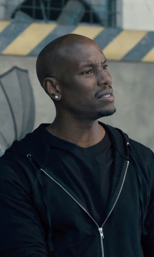 Tyrese Gibson with Dolce & Gabbana Cotton Jersey V Neck T-Shirt in Furious 7