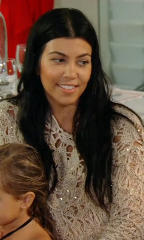 Kourtney Kardashian with Union Of Angels Freedom Crochet Dress in Keeping Up With The Kardashians