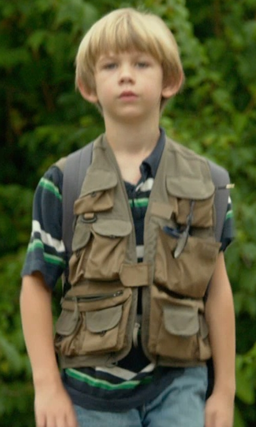 Gavin Dietz with Rothco Kids Travel Style Vest in Me and Earl and the Dying Girl