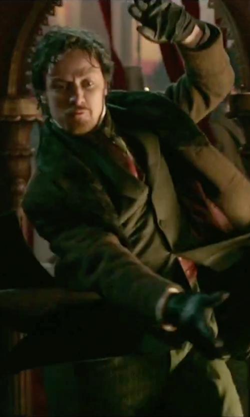 James McAvoy with Club Room Leather Gloves in Victor Frankenstein