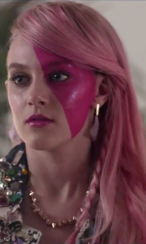 Aubrey Peeples with Joomi Lim Luxe Double Spike Choker in Jem and the Holograms