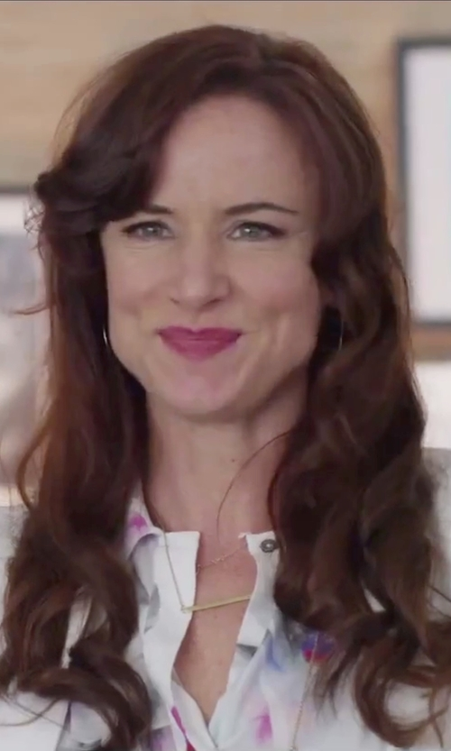 Juliette Lewis with Dogeared Goldtone Karma Pendant Necklace in Jem and the Holograms