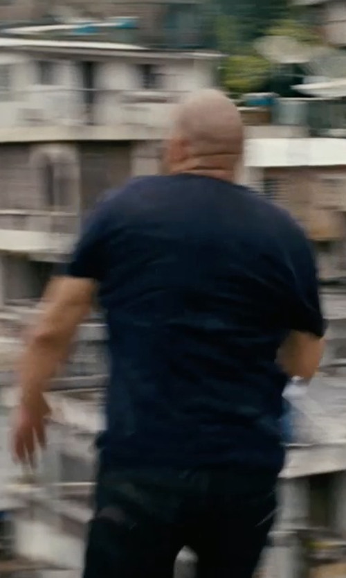 Vin Diesel with Dolce & Gabbana V-Neck Cotton-Jersey T-Shirt in Fast Five