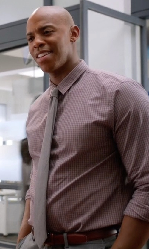 Mehcad Brooks with Saks Fifth Avenue Collection Burnished Leather Belt in Supergirl