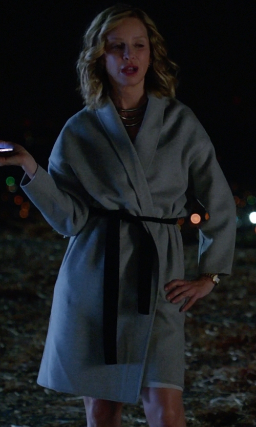 Calista Flockhart with Charter Club Short Lightweight Knit Robe in Supergirl