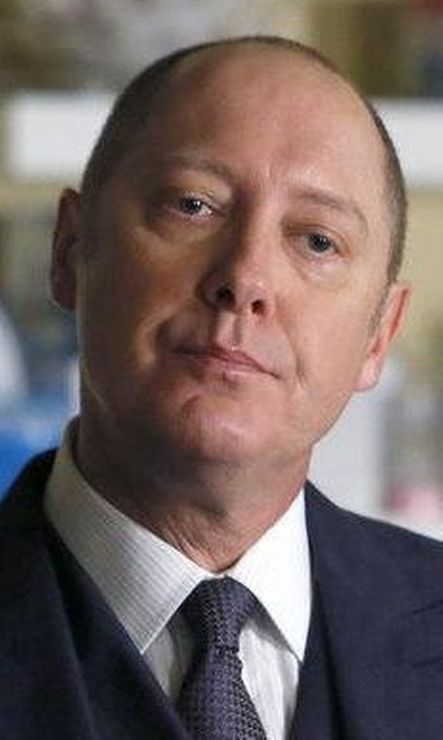 James Spader with Eton of Sweden Contemporary-Fit Tonal Stripe Formal Dress Shirt in The Blacklist