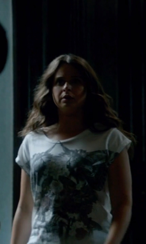 Katie Lowes with Roberto Cavalli Printed T-Shirt in Scandal