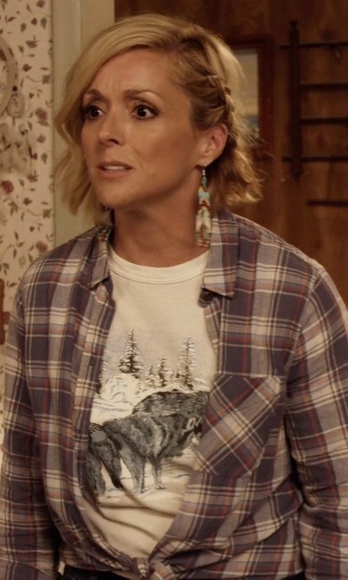 Jane Krakowski with Local Celebrity Crazy Cat Lady Schiffer Tee in Unbreakable Kimmy Schmidt