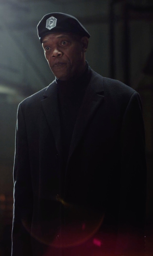 Samuel L. Jackson with Toscano Merino Wool Turtleneck Shirt in Barely Lethal