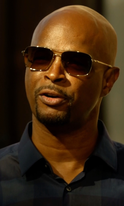 Damon Wayans with Salt. Odin Polarized Squared Aviator Sunglasses in Lethal Weapon