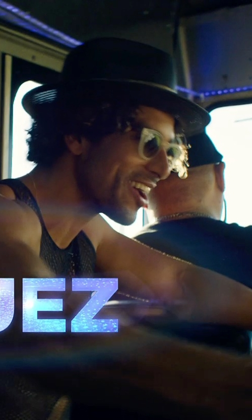 Adam Rodriguez with Urban Outfitters Rosin Wide Brim Felt Fedora Hat in Magic Mike XXL