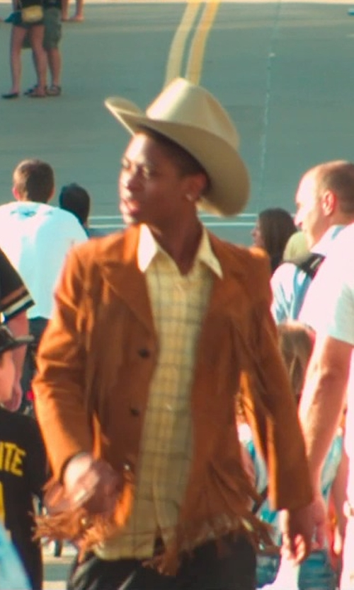 RJ Cyler with Scully Men's Suede Fringe Jacket in Me and Earl and the Dying Girl