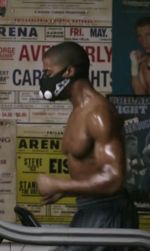 Michael B. Jordan with Elevation Training Mask 2.0 Training Mask in Creed
