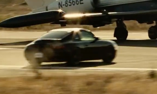 Liam Neeson with Porsche 911 Carrera Sport Car in Taken 3