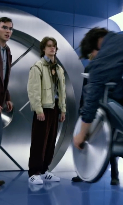 Lucas Till with Adidas Originals Superstar Trainer Sneakers in X-Men: Apocalypse