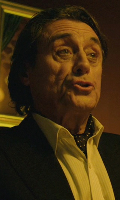 Ian McShane with Ralph Lauren Custom- Fit Narrow- Pleat Regent Dress Shirt in John Wick