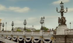 Emilia Clarke with Pont Alexandre III Paris, France in Me Before You
