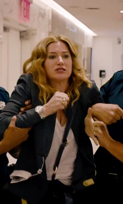 Kathryn Hahn with Michael Kors Fulton Logo Pavé Band Ring in She's Funny That Way