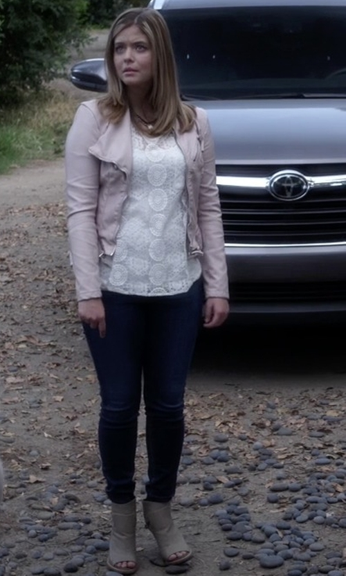 Sasha Pieterse with Topshop Pounce Peep Toe Boots in Pretty Little Liars