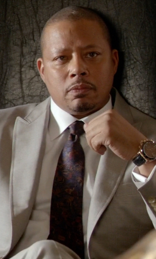 Terrence Howard  with Z Zegna Leaf Print Tie in Empire