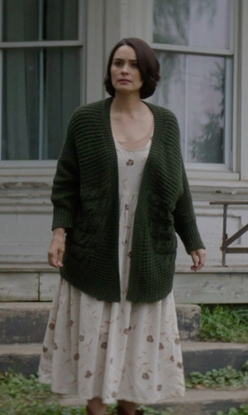 Shannyn Sossamon with Filtre Spaghetti Strap Floral Maxi Dress in Sinister 2