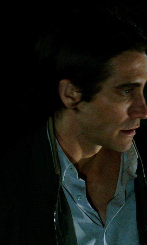 Jake Gyllenhaal with IZOD Men's Short Sleeve Solid Linen Cotton Button Down Shirt in Nightcrawler