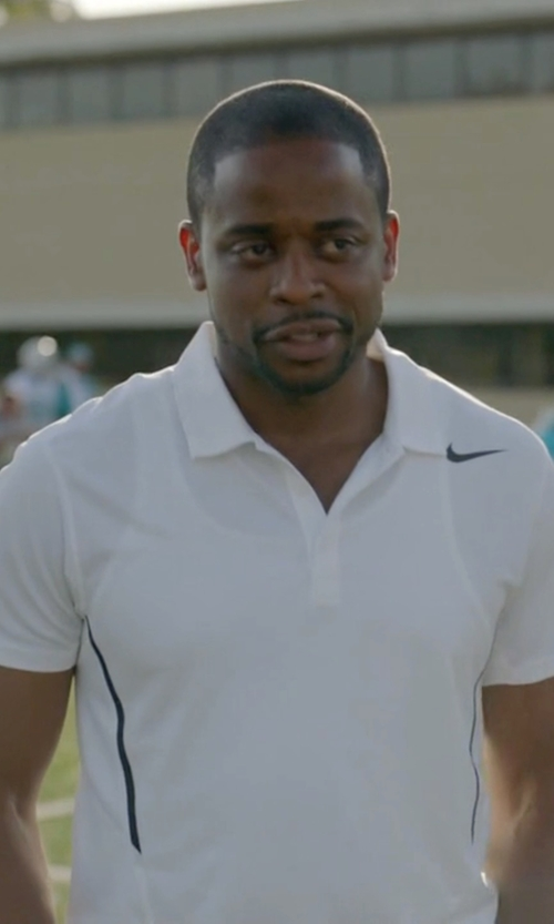 Dulé Hill with Nike Men's Power UV Tennis Polo Shirt in Ballers