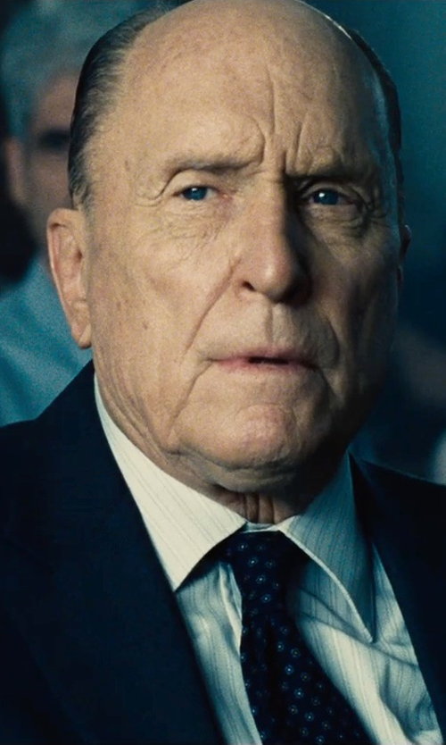 Robert Duvall with Armani Collezioni Dotted Oval Print Silk Tie in The Judge