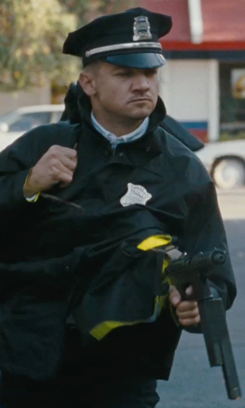 Jeremy Renner with Midway Cap Co. 8-Point Polyester Duty Cap in The Town