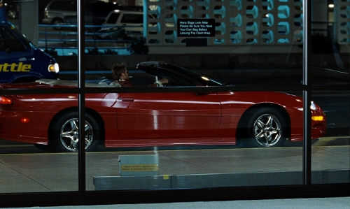Brad Pitt with Chevrolet 1998 Camaro Z28 SS Convertible Car in Fight Club