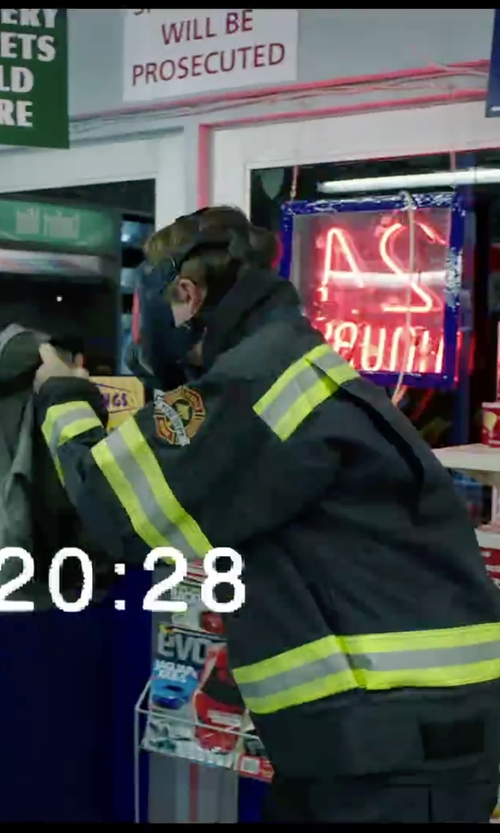 Dane DeHaan with Aeromax Adult Firefighter Costume in Chronicle