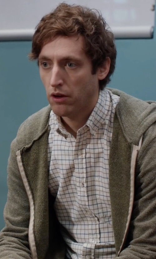 Thomas Middleditch with Polo Ralph Lauren  Men's Men's Long Sleeve Multi-Gingham Oxford Shirt in Silicon Valley
