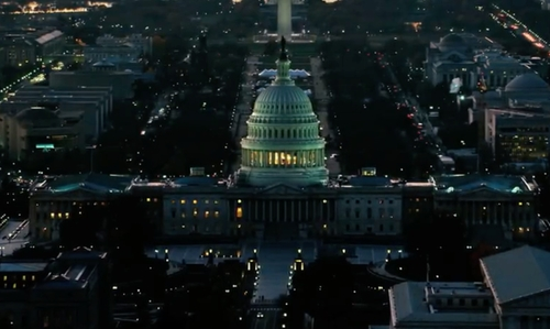 Unknown Actor with United States Capitol Washington, D.C. in The Purge: Election Year