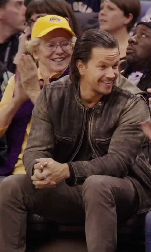 Mark Wahlberg with 7 For All Mankind Denim Pants in Daddy's Home