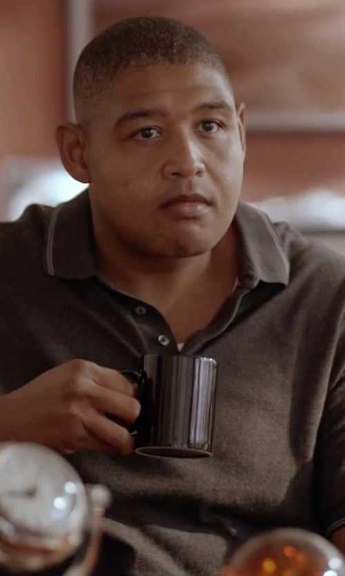 Omar Benson Miller with Boss Slim-Fit Polo Shirt in Ballers