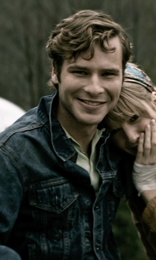 Anthony Ingruber with Paolo Pecora Denim Outerwear Jacket in The Age of Adaline