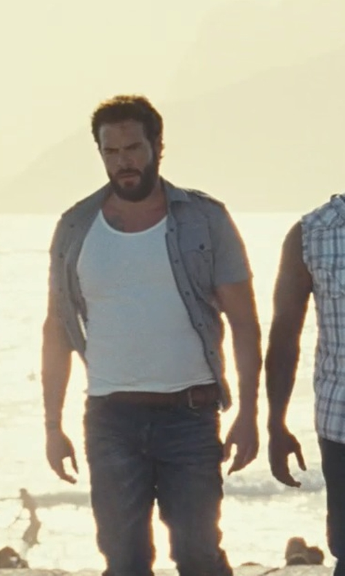 Matt Schulze with Ralph Lauren Douglas Calfskin Buckle Belt in Fast Five