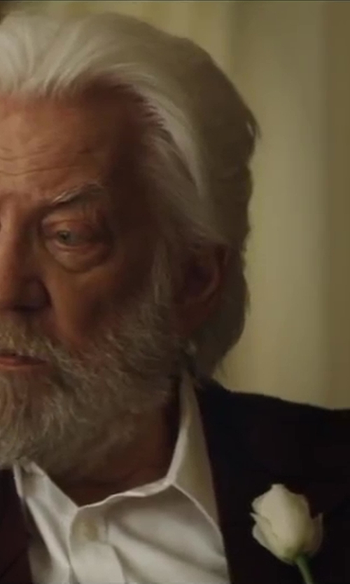 Donald Sutherland with Sand Star Sport Jacket in The Hunger Games: Catching Fire